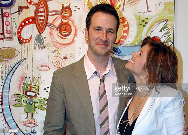 Brady Smith and TiffaniAmber Thiessen during Brady Smith Art Show December 1 2005 at 112 W 9th St in Los Angeles California United States