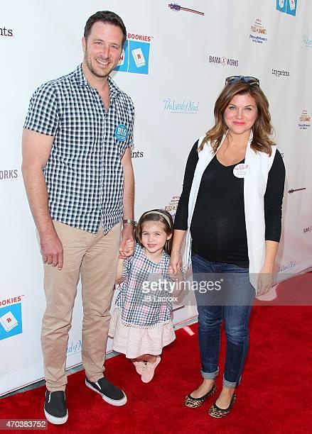 Brady Smith Harper Renn Smith Tiffani Thiessen attend the Milk Bookies 6th Annual Story Time Celebration on April 19 2015 in Los Angeles California