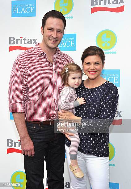 Brady Smith Tiffani Thiessen and daughter Harper Smith attend the 2012 Baby Buggy Bedtime Bash hosted by Jessica nd Jerry Seinfeld on June 6 2012 in...