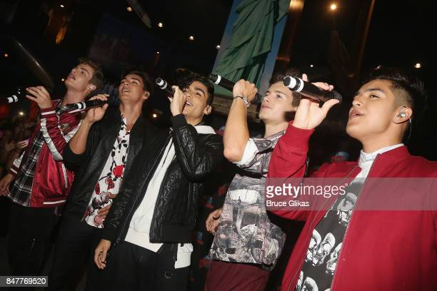 Brady Tutton Chance Perez Drew Ramos Michael Conor and Sergio Calderon of the group 'In Real Life' the grand prize winner of ABC's 'Boy Band' perform...