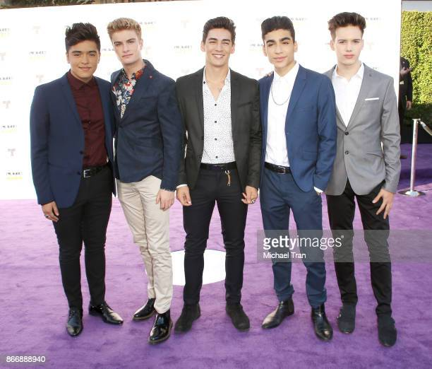 Brady Tutton Chance Perez Drew Ramos Sergio Calderon and Michael Conor of In Real Life arrive at the 2017 Latin American Music Awards held at Dolby...