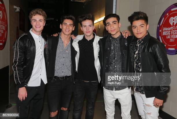 Brady Tutton Chance Perez Michael Conor Drew Ramos and Sergio Calderon of In Real Life attend the 2017 iHeartRadio Music Festival at TMobile Arena on...