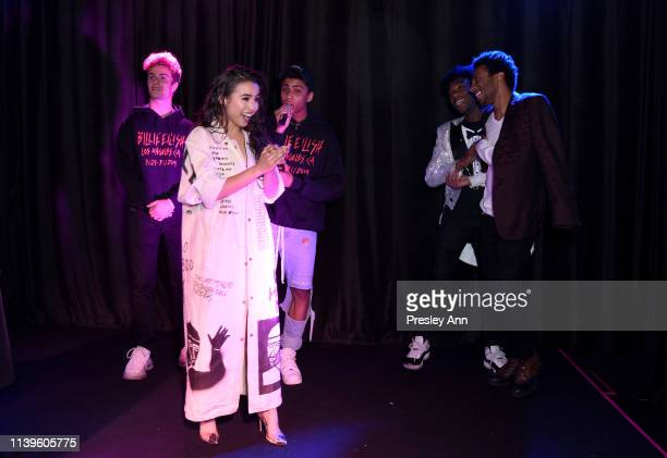 Brady Tutton Ciara RIley Wilson Bryce Xavier Jaheem Toombs and Doran Butler attends Ciara Riley Wilson's 18th birthday party at The Venue of...