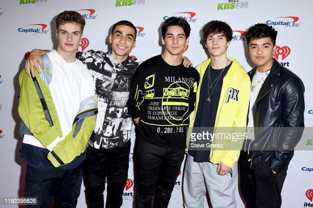 Brady Tutton, Drew Ramos, Chance Perez, Conor Michael Smith, and Sergio Calderon of In Real Life attend KIIS FM's Jingle Ball 2019 presented by...