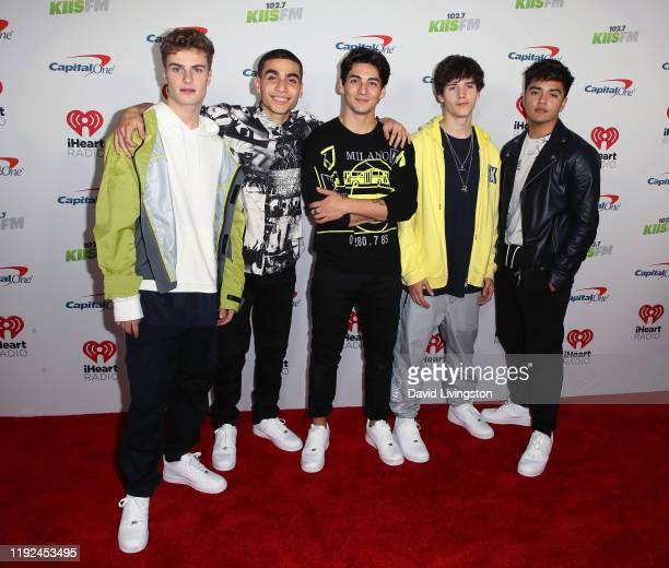 Brady Tutton, Drew Ramos, Chance Perez, Conor Michael Smith and Sergio Calderon of In Real Life attend KIIS FM's Jingle Ball 2019 presented by...