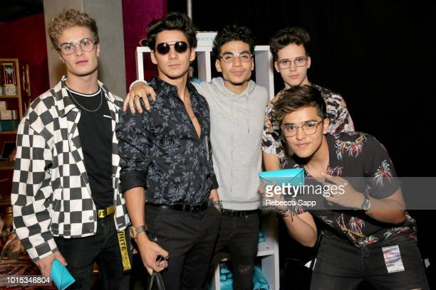 Brady Tutton Drew Ramos Chance Perez Michael Conor and Sergio Calderon of the band In Real Life at Backstage Creations Celebrity Retreat At Teen...