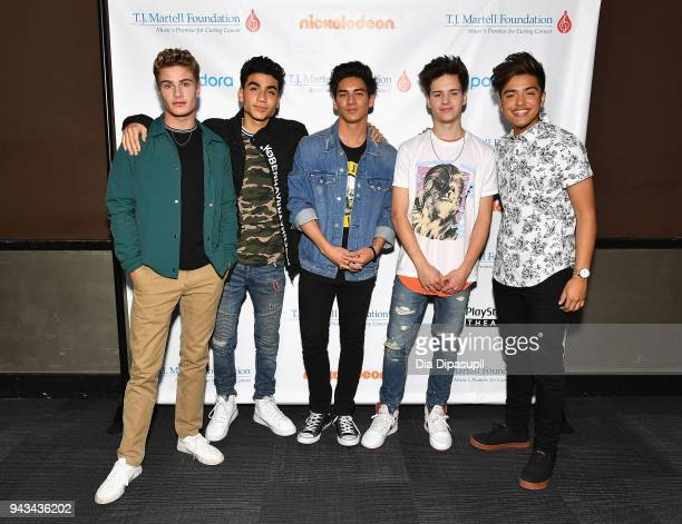 Brady Tutton Drew Ramos Chance Perez Michael Conor and Sergio Calderon of the band In Real Life attend TJ Martell Foundation's 17th Annual New York...