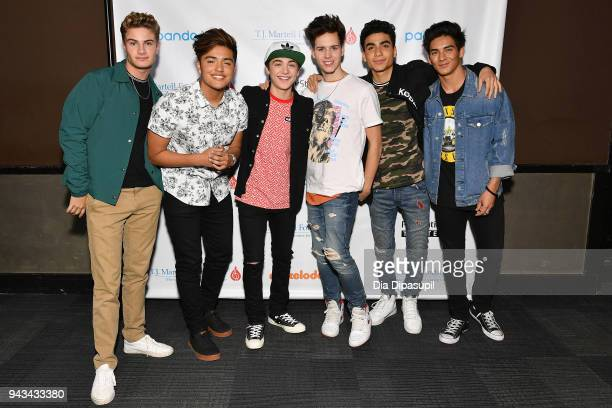 Brady Tutton Sergio Calderon Asher Angel Michael Conor Drew Ramos and Chance Perez attend TJ Martell Foundation's 17th Annual New York Family Day at...