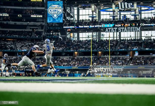 Brady White of the Memphis Tigers during the Goodyear Cotton Bowl Classic at ATT Stadium on December 28 2019 in Arlington Texas