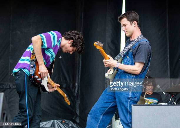 Braeden Lemasters and Dylan Minnette of Wallows perform during day 2 of Shaky Knees Music Festival at Atlanta Central Park on May 03, 2019 in...