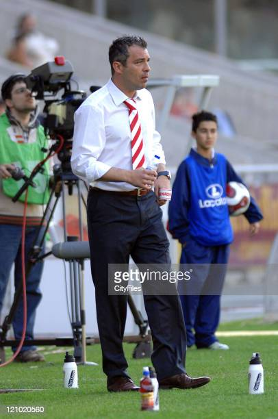 Braga coach Jorge Costa during Portuguese Cup Quarterfinals Braga vs Varzim March 25 2007 in Braga Portugal