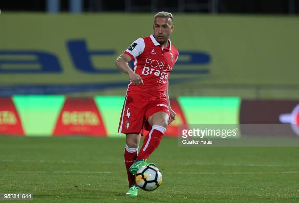 Braga defender Jefferson from Brazil in action during the Primeira Liga match between CF Os Belenenses and SC Braga at Estadio do Restelo on April 29...