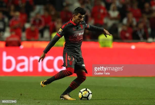 Braga defender Ricardo Esgaio from Portugal in action during the Portuguese League Cup match between SL Benfica and SC Braga at Estadio da Luz on...