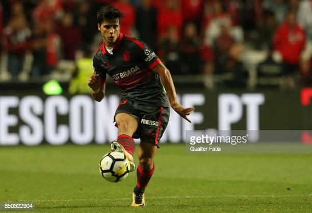 Braga forward Joao Carlos Teixeira from Portugal in action during the Portuguese League Cup match between SL Benfica and SC Braga at Estadio da Luz...