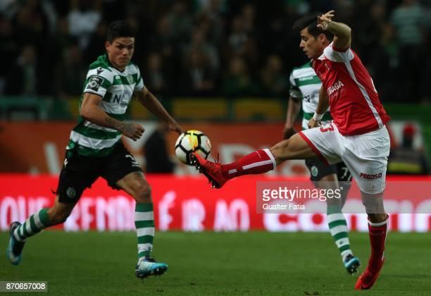 Braga forward Joao Carlos Teixeira from Portugal in action during the Primeira Liga match between Sporting CP and SC Braga at Estadio Jose Alvalade...