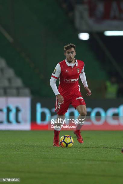 Braga midfielder Andre Horta from Portugal during the match between Vitoria de Setubal FC and SC Braga for the Portuguese League Cup at Estadio do...