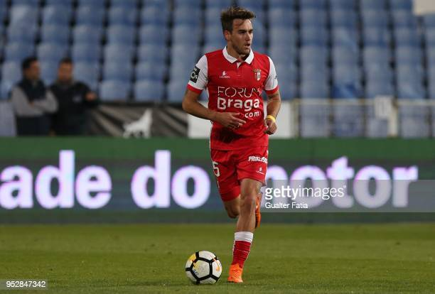Braga midfielder Andre Horta from Portugal in action during the Primeira Liga match between CF Os Belenenses and SC Braga at Estadio do Restelo on...