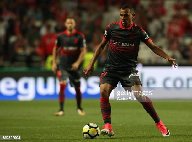Braga midfielder Fransergio from Brazil in action during the Portuguese League Cup match between SL Benfica and SC Braga at Estadio da Luz on...