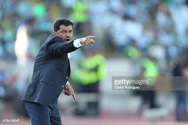 Braga's coach Sergio Conceicao during the Portuguese Cup Final between Sporting CP and SC Braga at Estadio Nacional on May 31 2015 in Oeiras Portugal