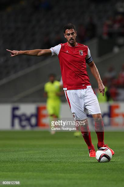 Braga's defender Andre Pinto from Portugal during the UEFA Europe League match between SC Braga v KAA Gent at Estadio Municipal de Braga on September...