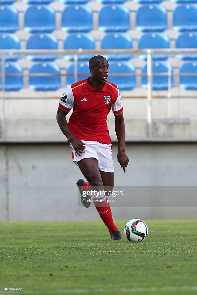 Braga's defender Willy Boly during the match between GD Estoril Praia and SC Braga at Antonio Coimbra da Mota Stadium on September 12, 2015 in Lisbon, Portugal.