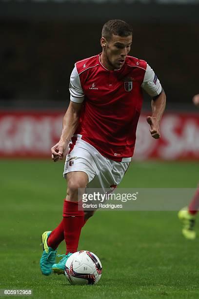 Braga's forward Pedro Tiba from Portugal during the UEFA Europe League match between SC Braga v KAA Gent at Estadio Municipal de Braga on September...