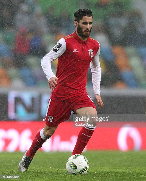 Braga's forward Rafa Silva in action during the Primeira Liga match between Sporting CP and SC Braga at Estadio Jose Alvalade on January 10 2016 in...