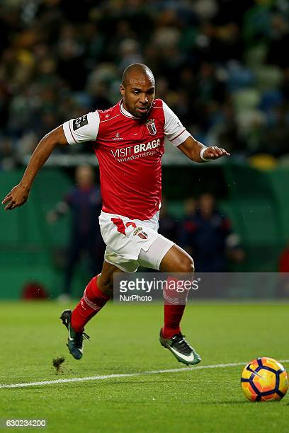 Bragas forward Wilson Eduardo from Portugal during Premier League 2016/17 match between Sporting CP and SC Braga at Alvalade Stadium in Lisbon on...