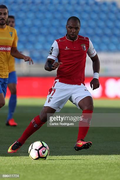 Braga's forward Wilson Eduardo from Portugal during the match between Estoril Praia SAD and SC Braga for the Portuguese Primeira Liga at Estadio...