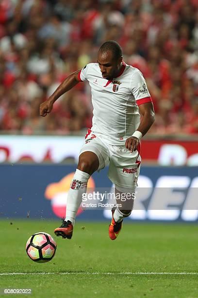 Braga's forward Wilson Eduardo from Portugal during the match between SL Benfica and SC Braga for the Portuguese Primeira Liga at Estadio da Luz on...