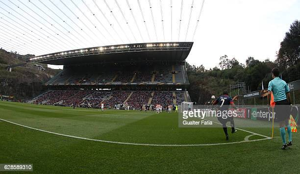 Braga's forward Wilson Eduardo from Portugal in action during the UEFA Europa League match between SC Braga and FC Shakhtar Donetsk at Estadio...