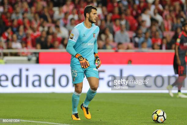 Bragas goalkeeper Andre Moreira from Portugal during the Portuguese Cup 2017/18 match between SL Benfica v SC Braga at Luz Stadium in Lisbon on...