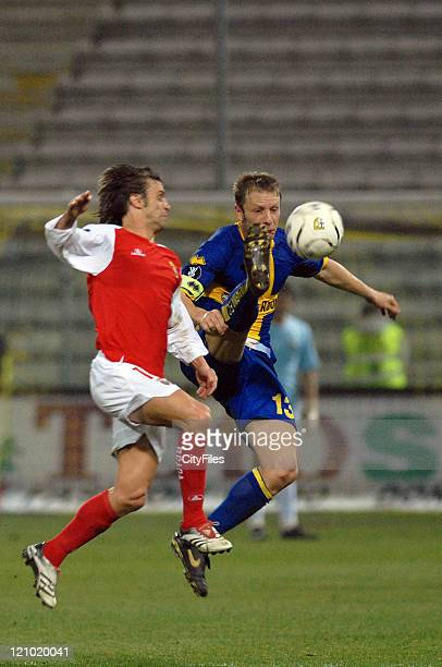 Braga's Joao Pinto during a UEFA Cup match between Parma and SC Braga in Parma Italy on February 22 2007