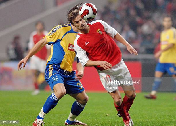 Braga's Joao Pinto in action during the UEFA Cup Group C match between SC Braga and the Grasshoppers at the Estadio Municipal de Braga in Braga...