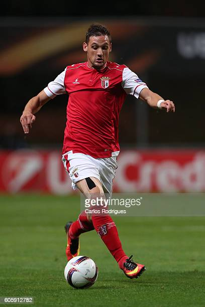 Braga's midfielder Nikola Stojiljkovic from Serbia during the UEFA Europe League match between SC Braga v KAA Gent at Estadio Municipal de Braga on...