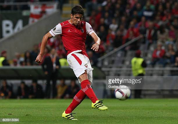 Braga's Montenegro midfielder Marko Bakic in action during the UEFA Europa League match between SC Braga and KAA Gent at Estadio Municipal de Braga...