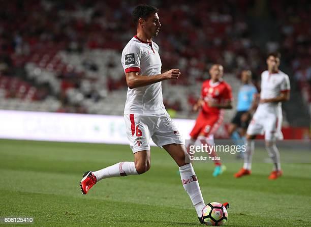 Braga's Portuguese defender Andre Pinto in action during the Primeira Liga match between SL Benfica and SC Braga at Estadio da Luz on September 19...