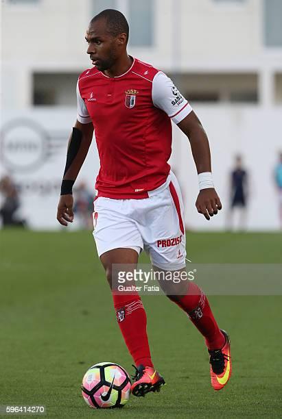 Braga's Portuguese forward Wilson Eduardo in action during the Primeira Liga match between GD Estoril Praia and SC Braga at Estadio Antonio Coimbra...