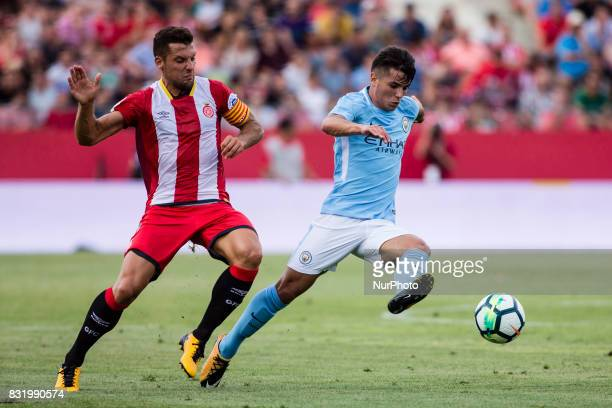 55 Brahim Diaz from Spain of Manchester City during the Costa Brava Trophy match between Girona FC and Manchester City at Estadi de Montilivi on...