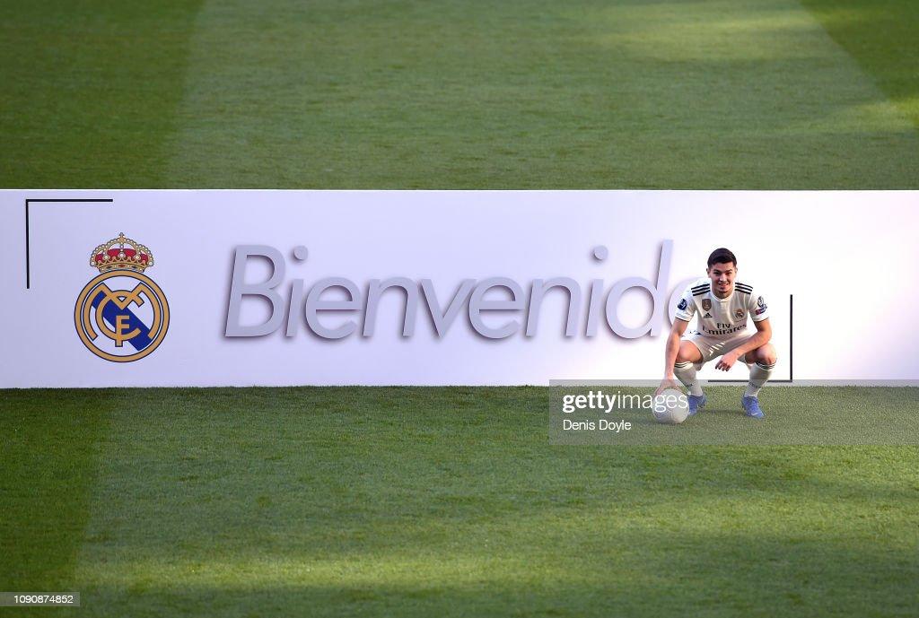 Real Madrid Unveil New Signing Brahim Diaz : News Photo