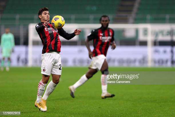 Brahim Diaz of Ac Milan in action during the Serie A match between Ac Milan and Hellas Verona. The match end in a tie 2-2.
