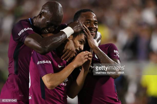 Brahim Diaz of Manchester City celebrates after scoring a goal to make it 40 during the International Champions Cup 2017 match between Manchester...