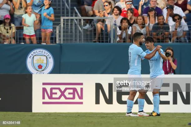 Brahim Diaz of Manchester City celebrates after scoring a goal to make it 30 during the International Champions Cup 2017 match between Manchester...
