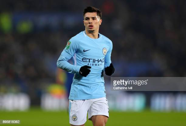 Brahim Diaz of Manchester City during the Carabao Cup QuarterFinal match between Leicester City and Manchester City at The King Power Stadium on...