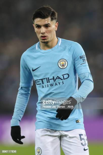Brahim Diaz of Manchester City during the Carabao Cup QuarterFinal match between here Leicester City v Manchester City at The King Power Stadium on...