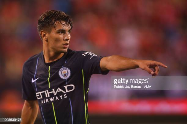 Brahim Diaz of Manchester City during the International Champions Cup 2018 match between Manchester City and Liverpool at MetLife Stadium on July 25...