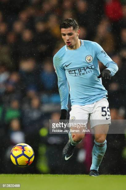Brahim Diaz of Manchester City during the Premier League match between Manchester City and West Bromwich Albion at Etihad Stadium on January 31 2018...
