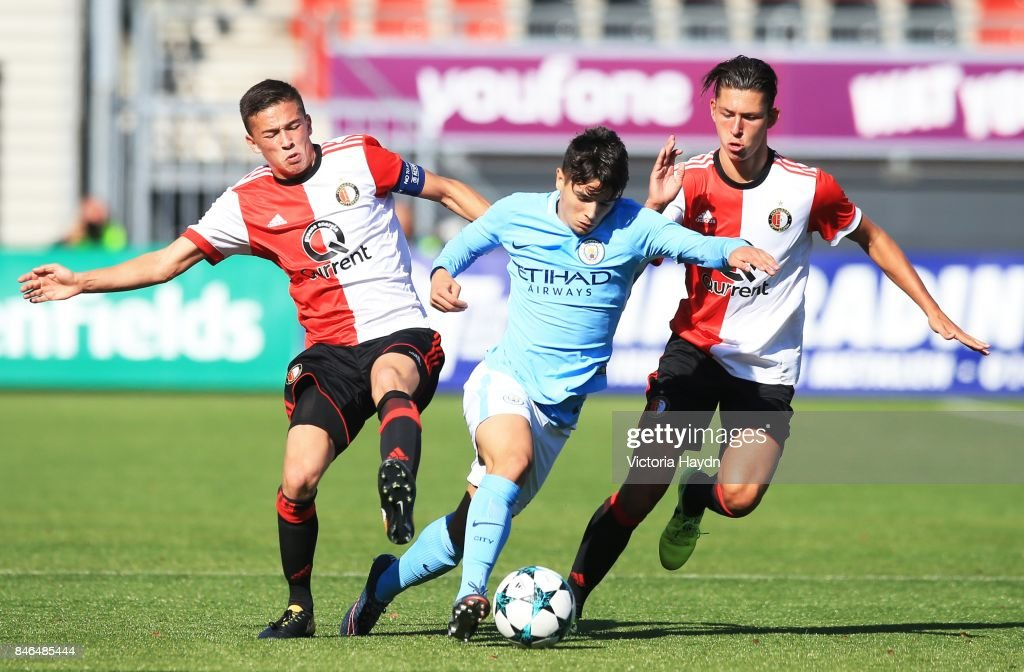 Brahim Diaz of Manchester City during the UEFA Youth Champions League group F match between Feyenoord and Manchester City on September 13, 2017 in Rotterdam, Netherlands.