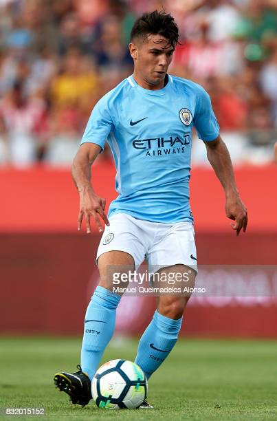 Brahim Diaz of Manchester City in action during the preseason friendly match between Girona and Manchester City at Municipal de Montilivi Stadium on...