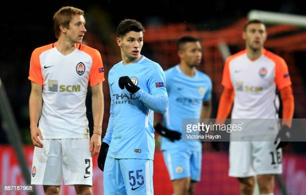 Brahim Diaz of Manchester City looks on during the UEFA Champions League group F match between Shakhtar Donetsk and Manchester City at Metalist...